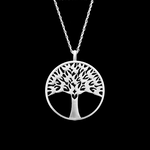 Fine Pewter Arbor Vitae Small Pendant by Lovell Designs