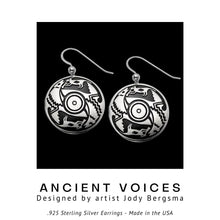 Load image into Gallery viewer, Ancient Voices .925 Sterling Silver Earrings from Metal Arts Group - Social Media Image