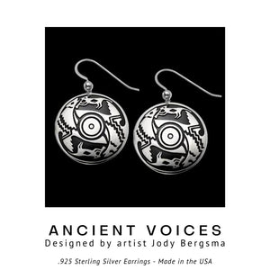 Ancient Voices .925 Sterling Silver Earrings from Metal Arts Group - Social Media Image