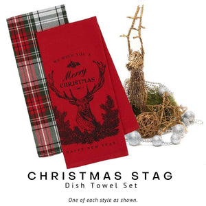 Christmas Stag Dish Towel Set - Social Media Image