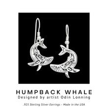 Load image into Gallery viewer, Humpback Whale .925 Sterling Silver Earrings from Metal Arts Group - Social Media Image