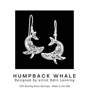 Humpback Whale .925 Sterling Silver Earrings from Metal Arts Group - Social Media Image
