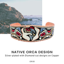 Load image into Gallery viewer, Native Orca Design Bracelet features a colorful native-inspired design - Social Media Image
