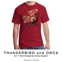 Load image into Gallery viewer, Thunderbird and Orca T-Shirt by Corey Bulpitt - Social Media Image