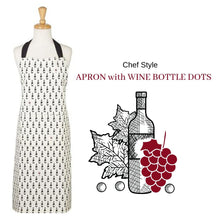 Load image into Gallery viewer, Apron with Wine Bottle Dots - Social Media Image