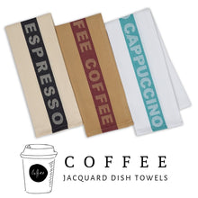 Load image into Gallery viewer, Coffee Collection Cotton Jacquard Dishtowel Set (Set of 3) - Social Media Image