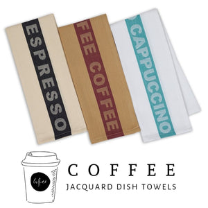 Coffee Collection Cotton Jacquard Dishtowel Set (Set of 3) - Social Media Image