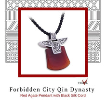 Load image into Gallery viewer, Zen Pendant - Forbidden City Qin Dynasty in Sterling Silver with Red Agate