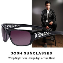 Load image into Gallery viewer, Josh Sunglasses with Bear Design in Black - Social Media Image