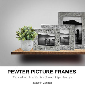 Native Motif Picture Frames in Pewter - Social Media Image