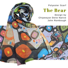 Load image into Gallery viewer, The Bear Scarf designed by Chipewyan Dene artist John Rombough - Social Media Image