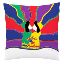 Load image into Gallery viewer, Aurora Kiss Decorative Pillow Cover by Dawn Oman
