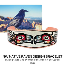 Load image into Gallery viewer, NW Native Raven Design Bracelet - Social Media Image