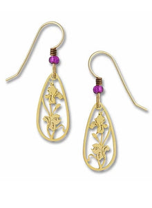 Sienna Sky Earrings - Gold Plated Iris