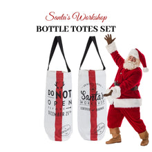 Load image into Gallery viewer, Santa's Workshop Bottle Totes (Pair) - Social Media Image