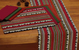 Cloth Table Napkin in Picante Red with Optional Accessories