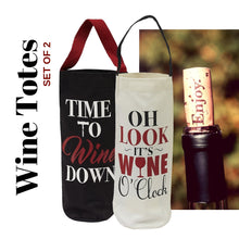 Load image into Gallery viewer, Wine Cellar Bottle Totes (Pair) - Social Media Image