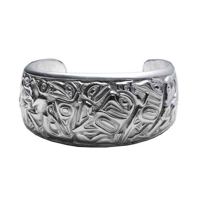 Transformation Silver-Pewter Cuff Bracelet designed by Bill Helin