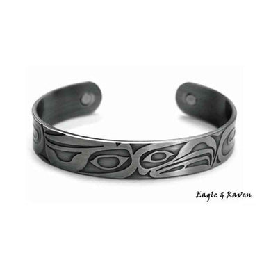 Eagle and Raven Silver Brushed Copper Cuff Bracelet designed by Corey W. Moraes