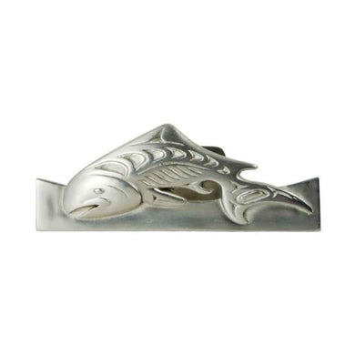 Salmon Business Card Holder - Pewter