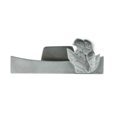 Traveling Raven Business Card Holder - Pewter