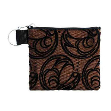 Raven Design Coin Purse in Brown and Black designed by Connie Dickens