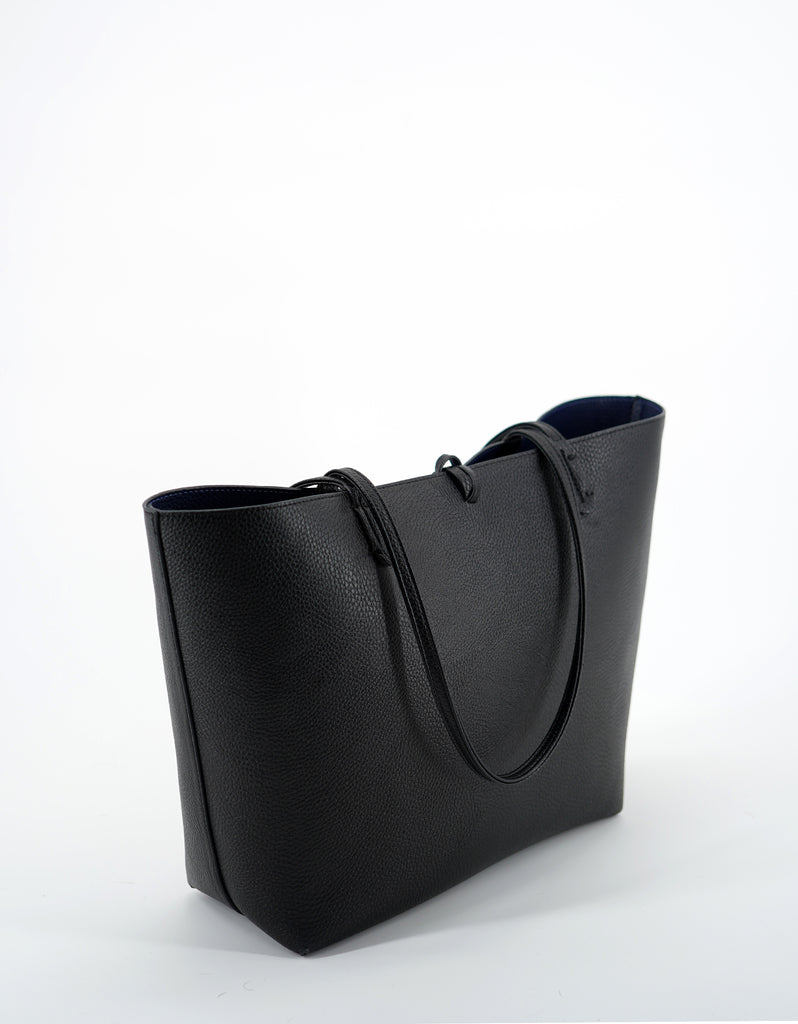 DEPARTURE TOTE STRIPE BLACK/NAVY