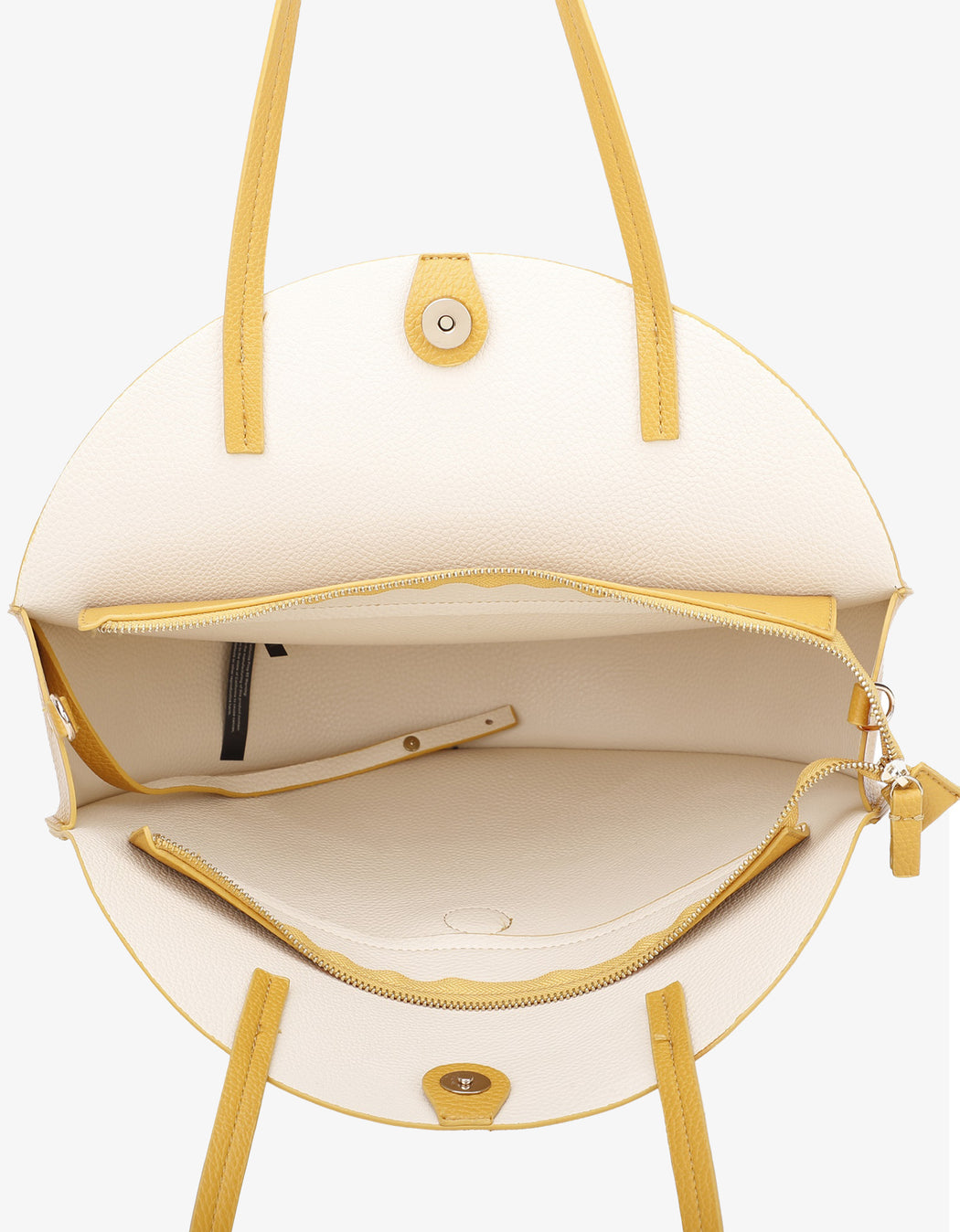 ALLISON TOTE MUSTARD/CREAM