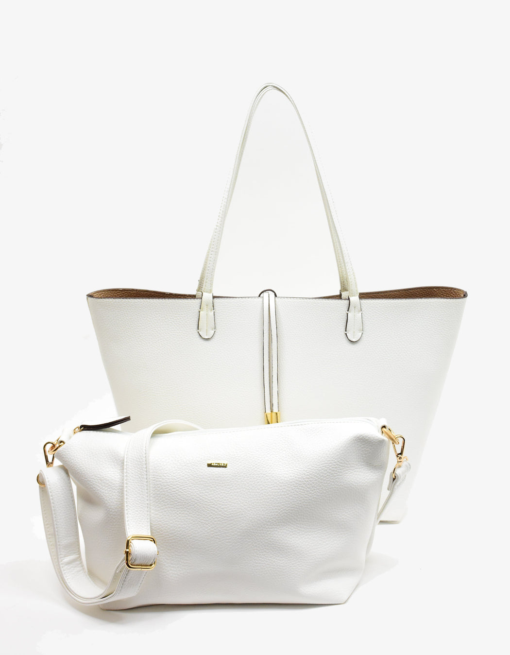 DEPARTURE TOTE WHITE/GOLD