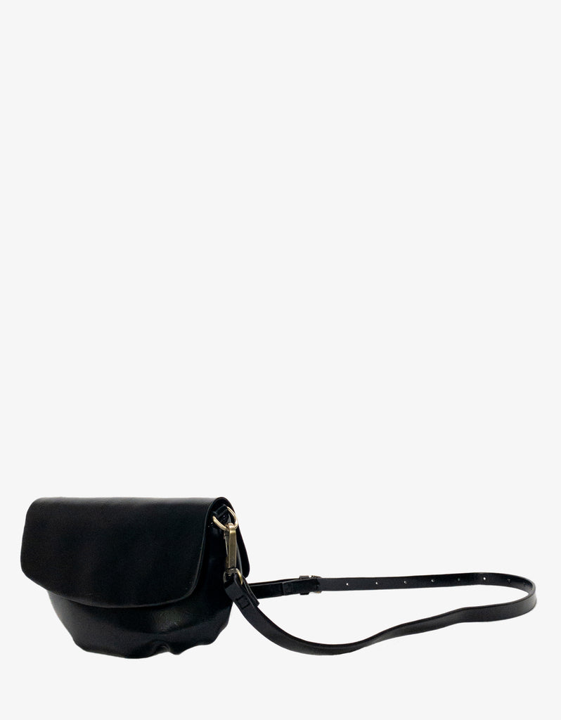 ETTA CONVERTIBLE BELT BAG WAXED BLACK