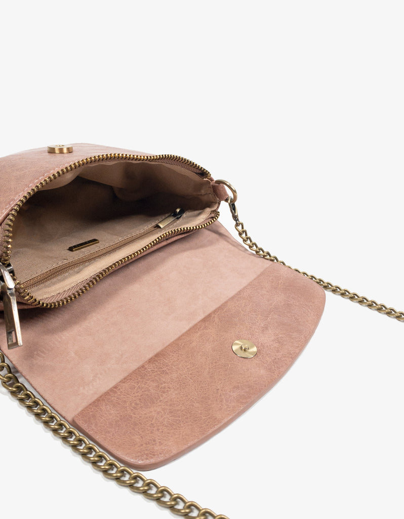 ETTA CONVERTIBLE BELT BAG WAXED ROSE