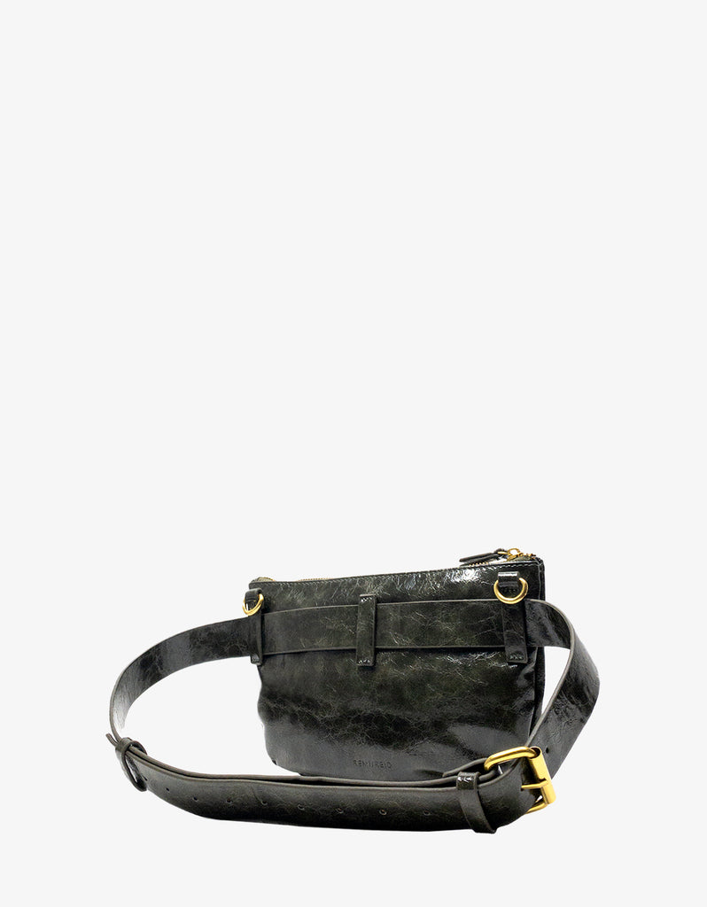 LEO CONVERTIBLE CROSSBODY SLING AND BELT BAG SMALL OLIVE