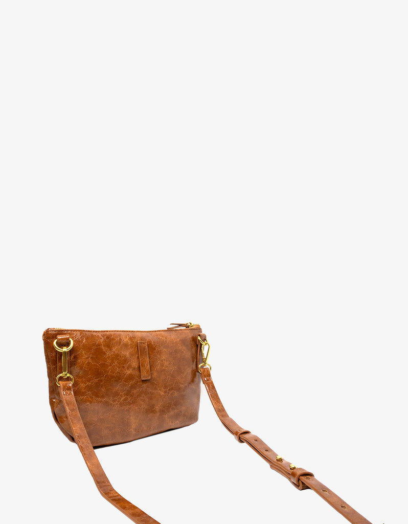 LEO CONVERTIBLE CROSSBODY SLING AND BELT BAG SMALL SIENNA