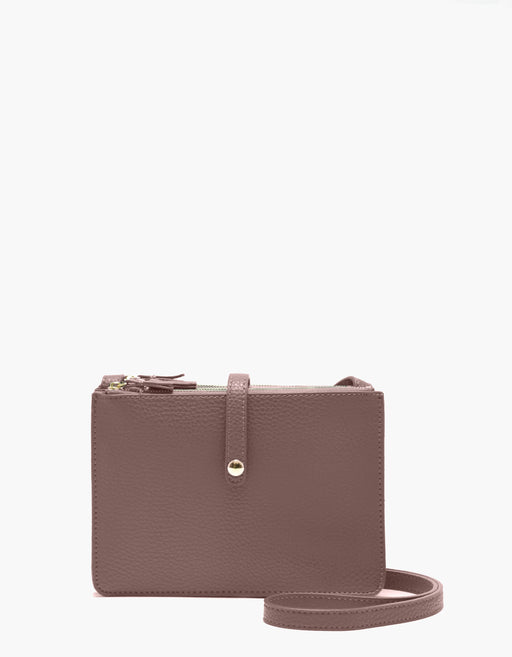 LOGAN TRIPLE GUSSET CROSSBODY COCOA