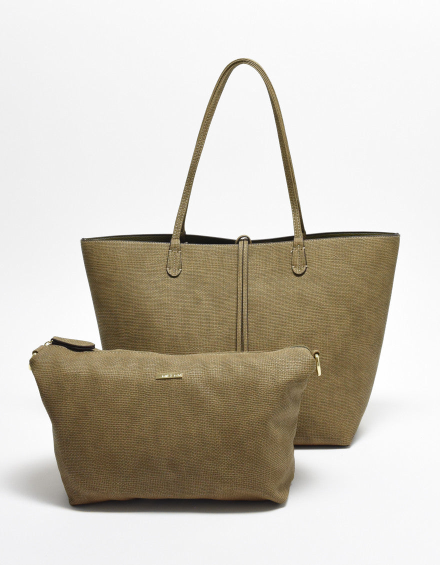 DEPARTURE TOTE LINEN TEXTURE OLIVE/OLIVE