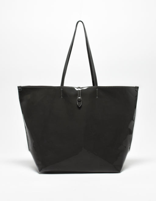 SOBRIQUET TOTE PATENT DARK GREY