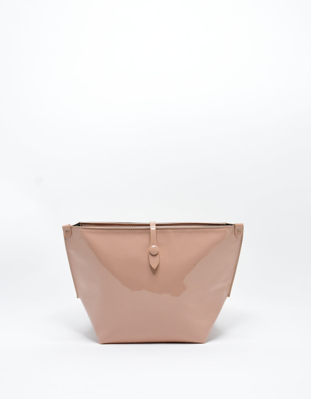 SOBRIQUET PATENT LARGE MAKE UP POUCH NUDE