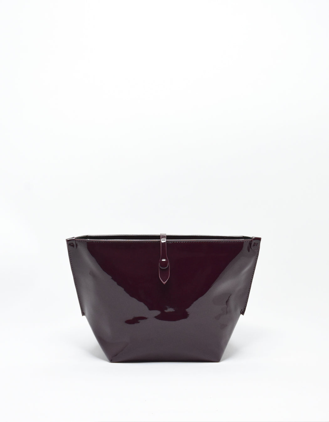 SOBRIQUET PATENT LARGE MAKE UP POUCH OXBLOOD