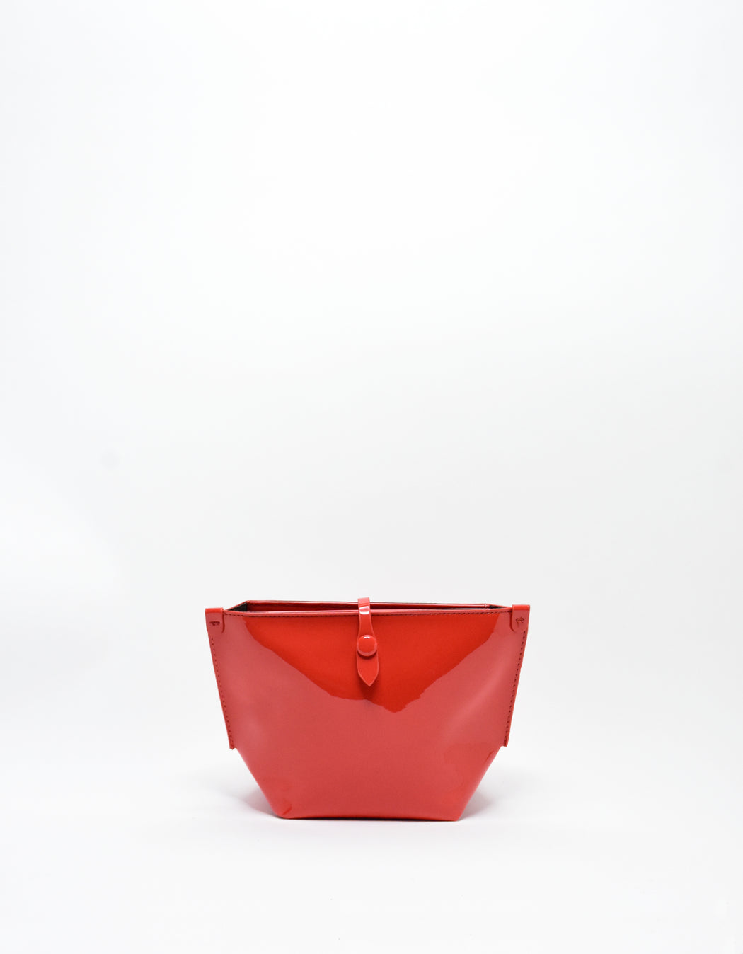 SOBRIQUET PATENT SMALL MAKE UP POUCH PERSIMMON ORANGE