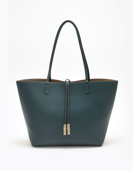 DEPARTURE TOTE TEAL/TAUPE