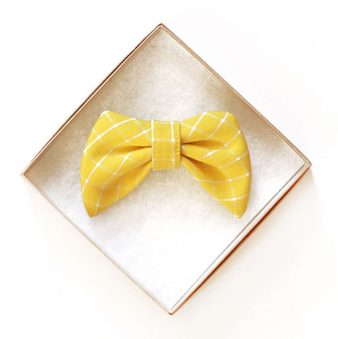 Melo Yellow Doggy Bow Tie