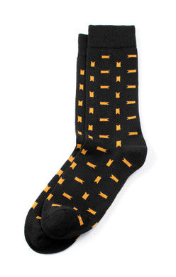 Wanderer Black and Yellow Socks