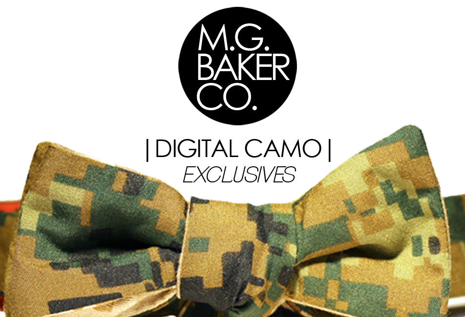 Reversible Digital Camo Bow Tie Exclusive