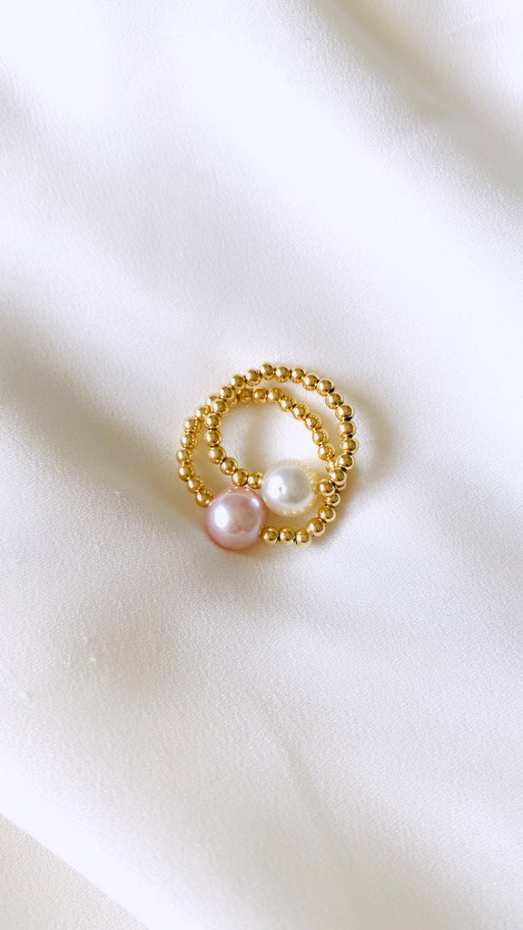 Edison pearl stretch ring