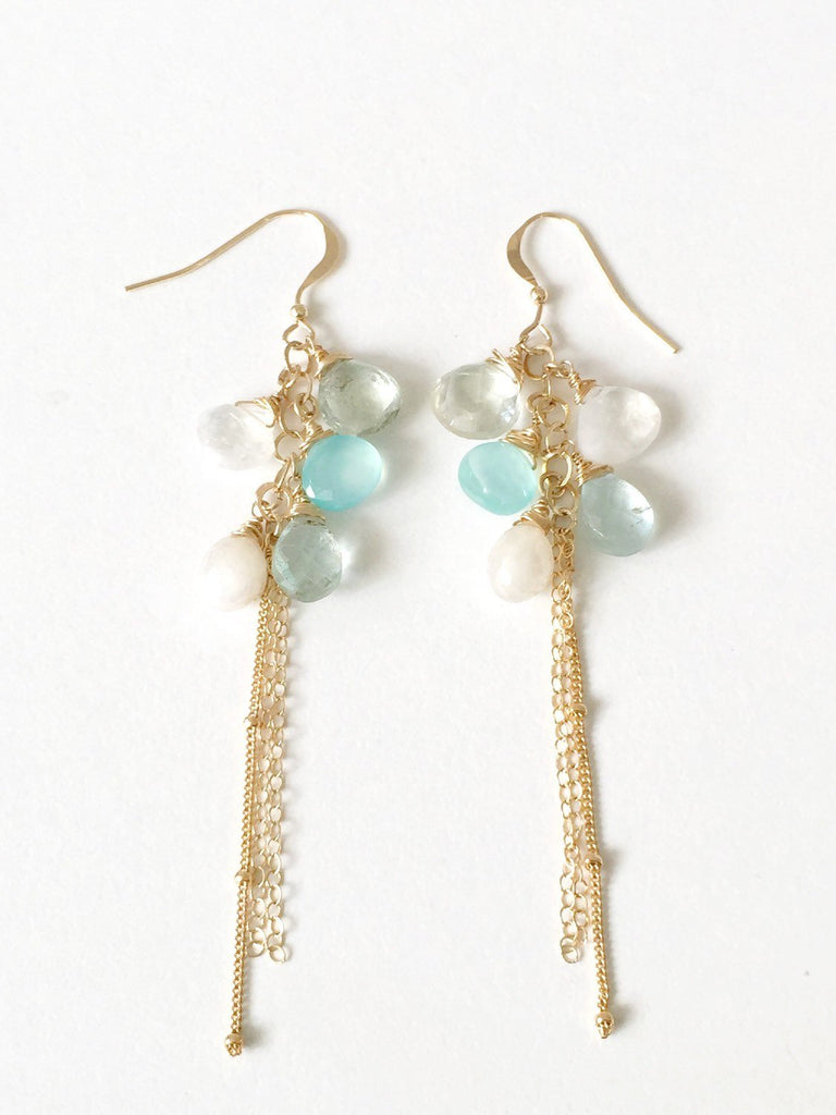 HONEYDROP aquamarine drop earrings