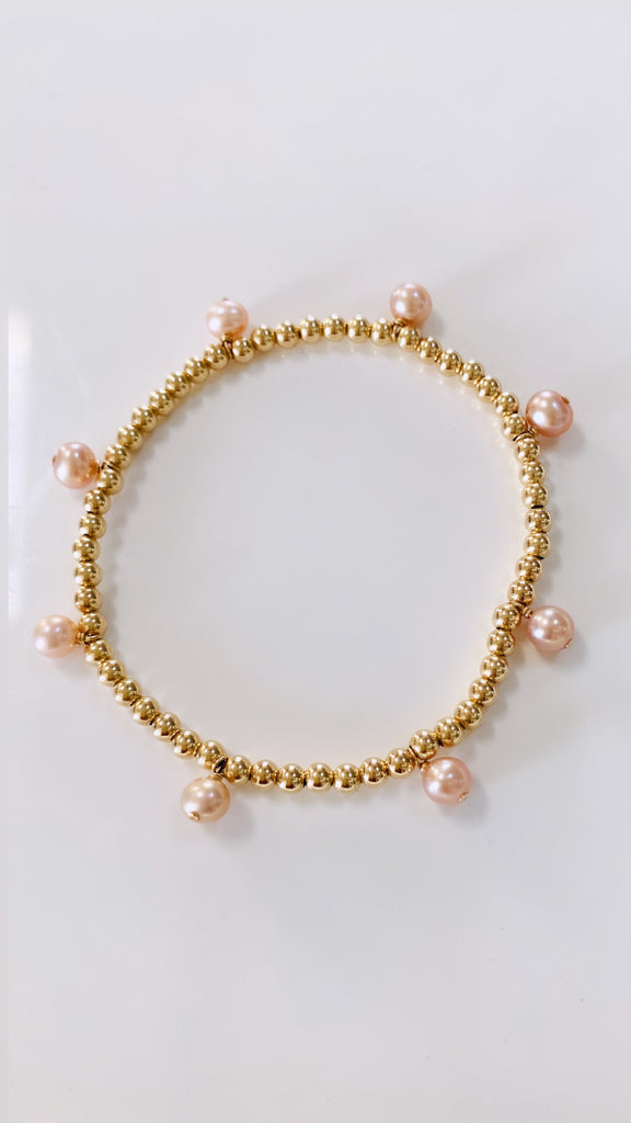 Drop Edison Keshi stretch bracelet
