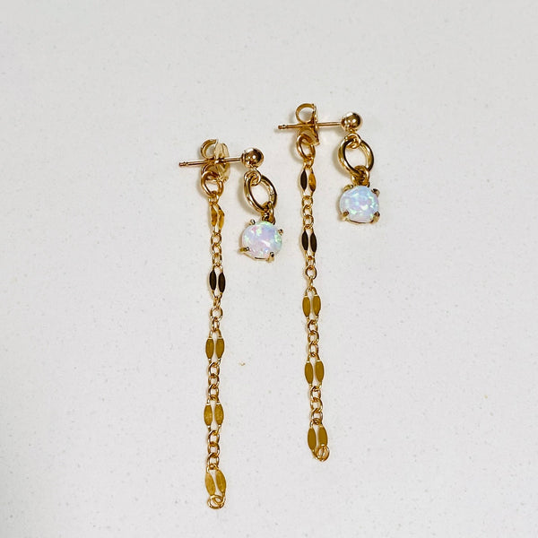 OPAL post threader earrings