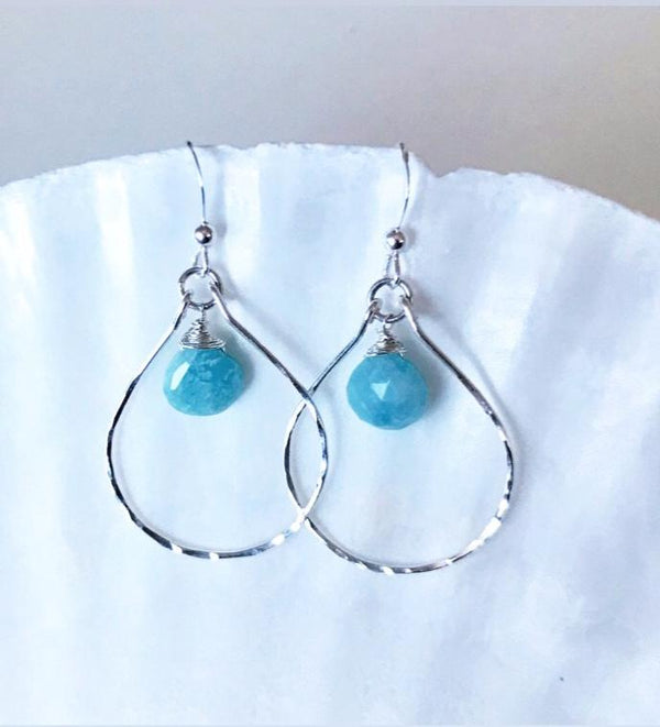 Silver BAJA gemstone earrings
