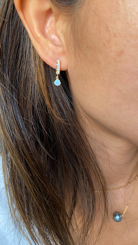 NEW Tiny Opal Huggy Earrings