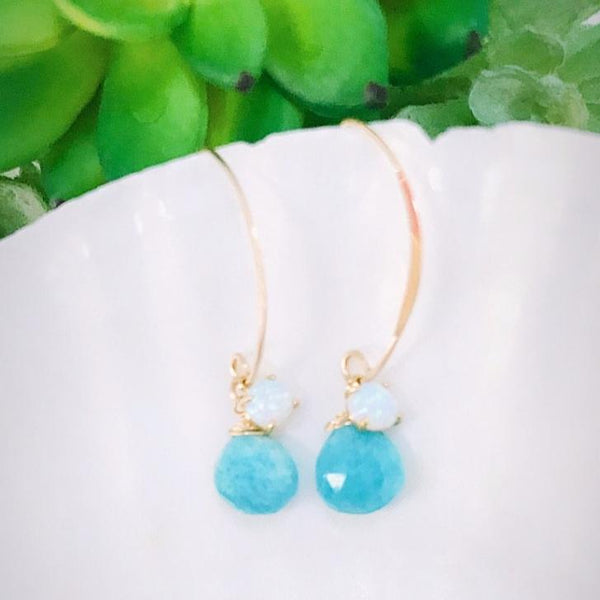 OPAL Gemstone D-earrings